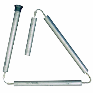 Flexible anode rod